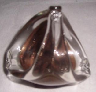 MURANO HAND BLOWN COPPER COLOR ART GLASS BASKET