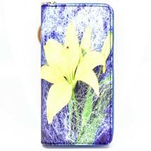 Heimish Yellow Daffodil Flower Printed Vinyl Zip Around Clutch Wallet
