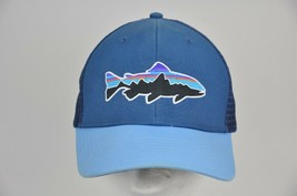 PATAGONIA Fitz Roy TROUT Trucker Hat Style 38008 Blue/Light Blue Mesh Sn... - $29.70