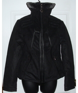Brand New with Tags Baby Phat Kimora Lee Ultra Suede Black Motorcycle Coat  - $59.99