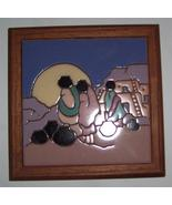 Mag Mor Art Tile Southwestern Ceramic Color Trivit  Art - $36.24