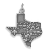 Assorted Sterling Silver State Map Shape Charms - $21.99