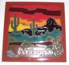 "Masterworks Handcrafted ""ARIZONA"" Handpainted Tile Trivet/Coaster - $23.46"