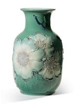 Lladro Poppy Flowers Tall Vase. Green. Limited Edition 01008648 - $1,600.00