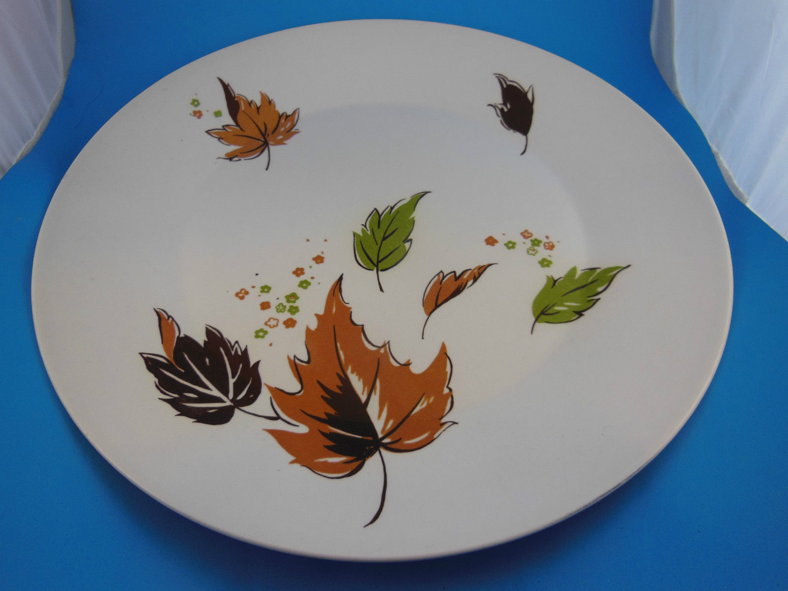 "Primary image for Harmony House Vintage Japan 12"" Serving Plate Iron Stone HARVEST Leaves Autumn"