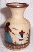 Miniature Tonala Mexico Native Latino Pottery Art Vase - $42.08