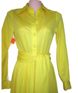 1970s vintage yellow long maxi dress size xxs 2xs extra small xs 0 2 - $74.99