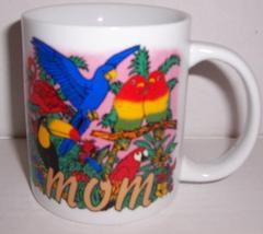 """Mom"" Exotic Birds Collectible Colorful Ceramic Mug - $26.23"