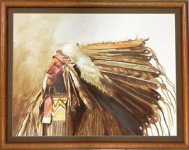 Irving Toddy Navajo Original Oil Painting Warrior Award Winning Artist - $1,083.00