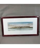 Alenandre Bonade Saint Malo France Print, 1991,Framed and Matted, Nice - $14.95