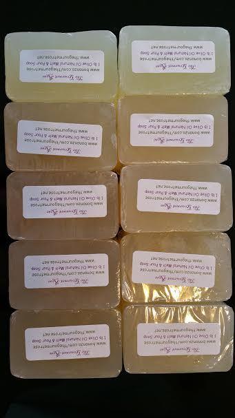 10 lb EXTRA VIRGIN OLIVE OIL Melt And Pour Soap All Natural Glycerin Base BULK