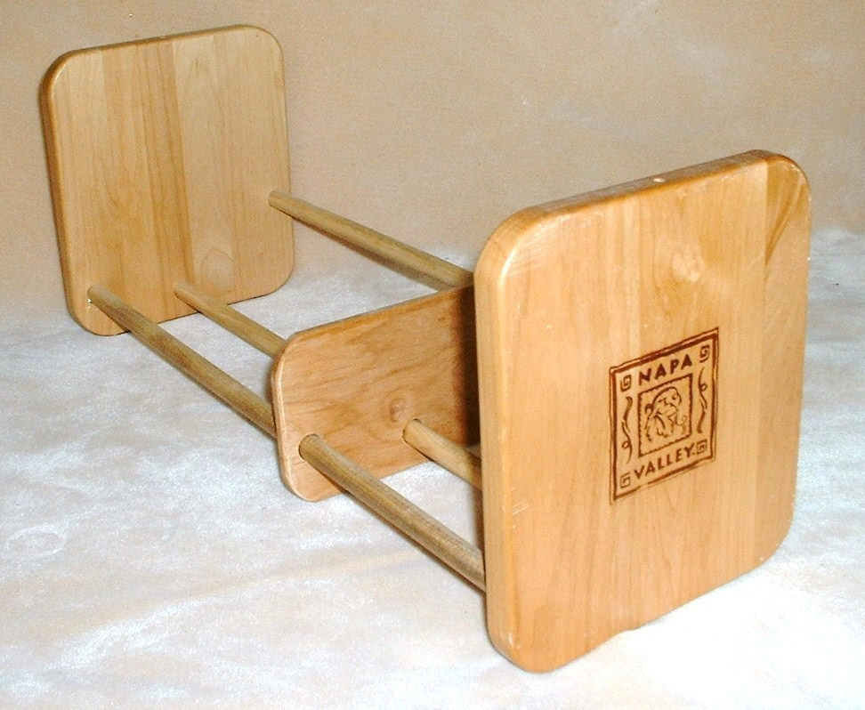 Napa Valley Box Co. Wood Tabletop CD Rack