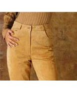 Ladies Genuine Suede Leather 5-Pocket Jeans Size 8  - $29.99