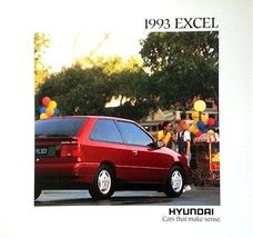 1993 Hyundai EXCEL sales brochure catalog US 93 GL GS - $6.00