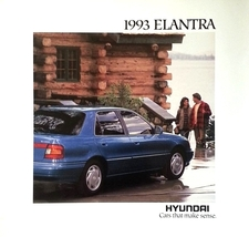 1993 Hyundai ELANTRA sales brochure catalog US 93 GLS - $6.00