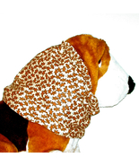 Dog Snood Christmas Mini Gingerbread Men Cotton Brown Beige Size Large - $12.50