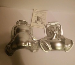 Wilton Baking Cake Pan Set 3-D Stand Up Cuddly Baby Teddy Bear Instructions - $11.87