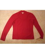 Medium Investments Fine Cashmere Sweater Magenta Sweetheart Neckline NWT... - $89.99