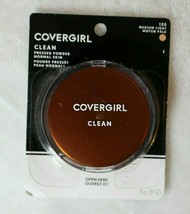 CoverGirl Clean Pressed Powder Compact, Medium Light 135 0.39 oz New Sealed - $9.89