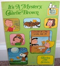IT'S A MYSTERY CHARLIE BROWN Graphic Comic Book Novel 1975 VG CONDITION - $4.96