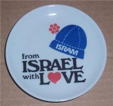 NAAMAN MINIATURE PORCELAIN FROM ISRAEL WITH LOVE PLATE  - $25.47