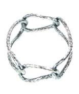 Bottega Veneta Bracelet Bangle Oxidised Silver Size Small Womens RRP £625 - $361.20