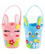 Easter Bunny Rabbit Basket Hand Bag DIY Arts Craft Egg Hunting Party Sup... - $6.85