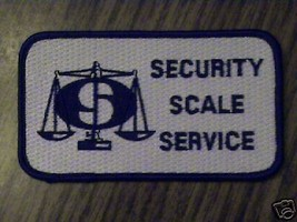 SECURITY SCALE SERVICE,WORKER,BUSSINESS,COLLECT,PATCH,1 - $14.25