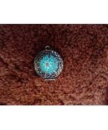 Aqua  Glow in the Dark Necklace Collectible Bro... - $26.00