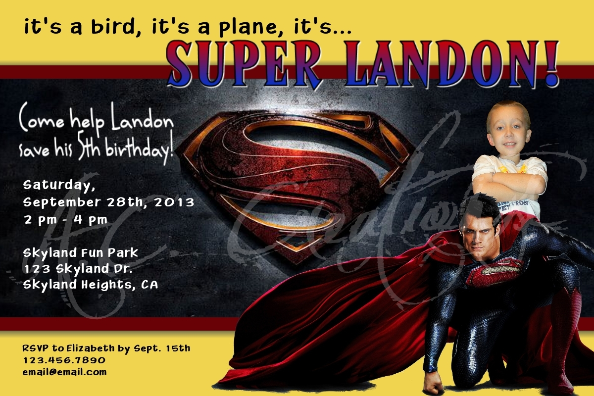 Superman Birthday Party Invitation You and 50 similar items – Superman Birthday Party Invitations