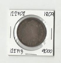 1809 Capped Bust Half Dollar - # 122702 - $129.60