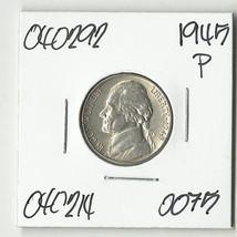 1945 P Silver Jefferson War Nickel - # 040292 - NICE - $11.52