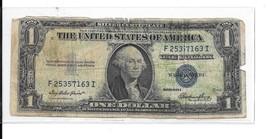 $ 1.00 - 1935 E Silver Certificate - # 57163 I - $3.84
