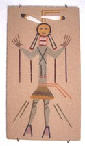 NAVAJO SAND ART NATIVE AMERICANA PAINTING BY CURTIS - $74.99