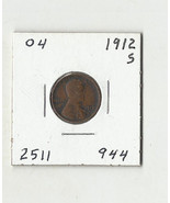 1912 S Lincoln Wheat Cent - # 04 - $21.12