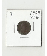 1909 VDB Lincoln Wheat Cent - # 31011-0850-7 - $15.36