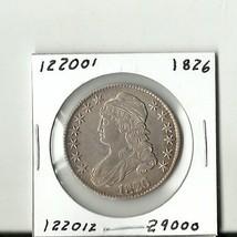 Very Nice 1826 Capped Bust Half Dollar - # 122001 - $648.00
