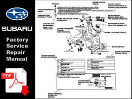 2001 2002 2003 2004 2005 2006 2007 Subaru Impreza Year Specific Workshop Manual - $14.95