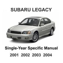 2001    2004 Subaru Legacy Oem Factory Service Repair Manual + Wiring Diagrams - $14.95
