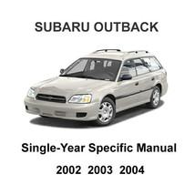 2002   2004 Subaru Outback Oem Factory Repair Service Manual + Wiring Diagrams - $14.95