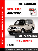 Mitsubishi Montero 2003   2006 Factory Service Repair Manual + Wiring Diagrams - $14.95