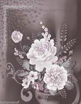 """Floral HEAVY Queen 3D Luxury FLOWER FLOWERS Faux Fur Mink Bed Blanket 79"""" x 96"""" - $59.95"""
