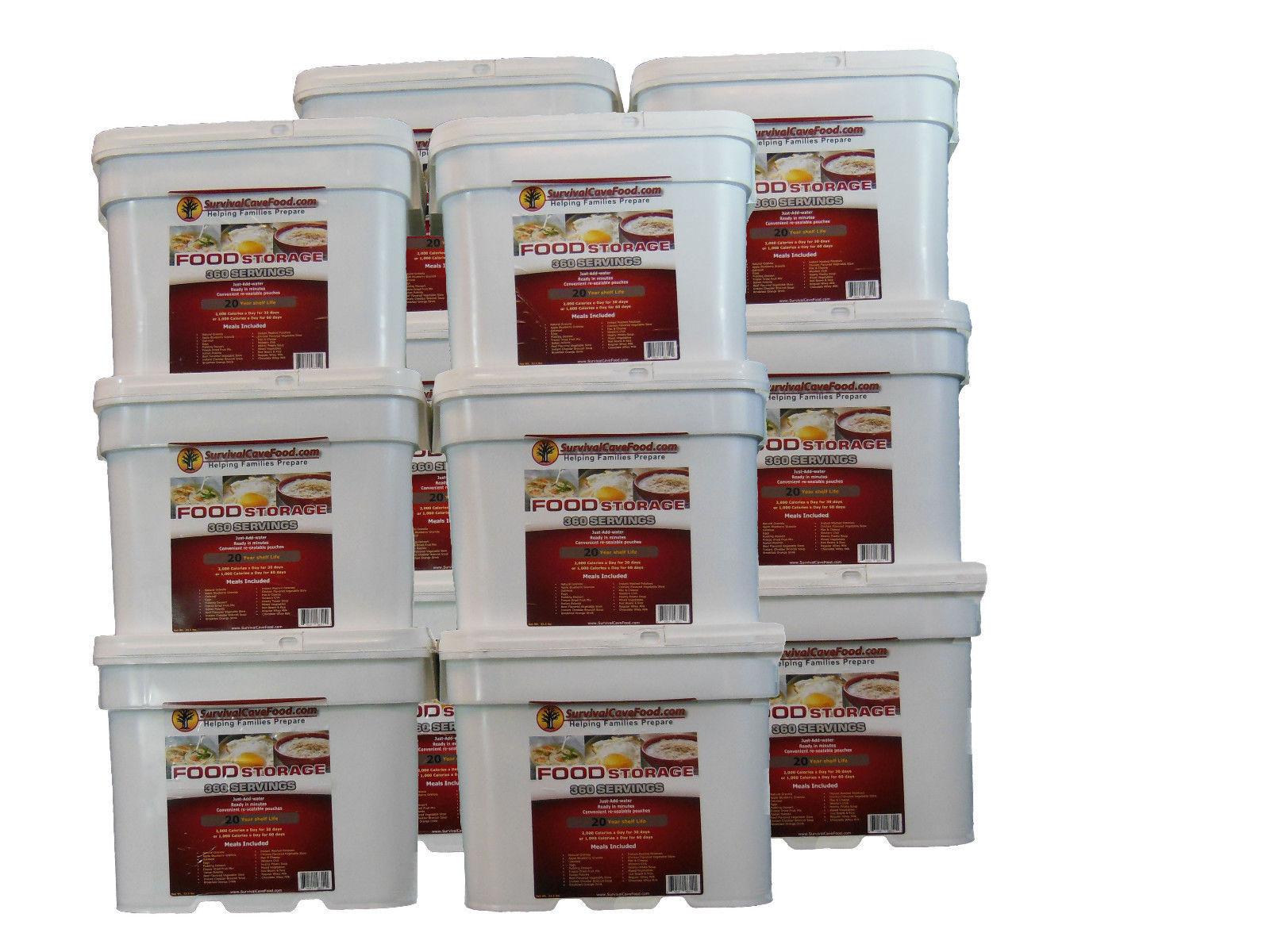bulk survival cave food long term 20 year shelf life 4320. Black Bedroom Furniture Sets. Home Design Ideas