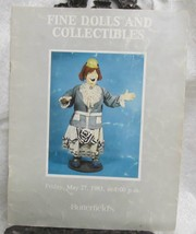 Fine Dolls and Collectibles Sale Catalog Butterfields 1983 - $34.30