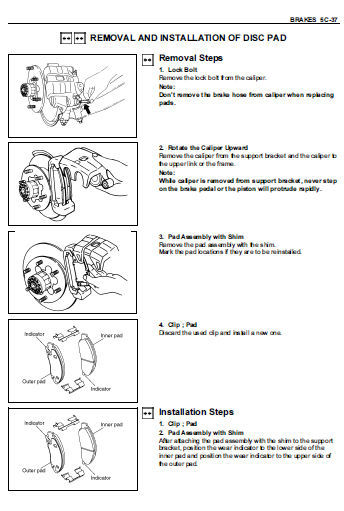 ISUZU RODEO PICKUP TRUCK 6VE1 C24S 4JA1 4JH1TC FACTORY SERVICE REPAIR FSM MANUAL