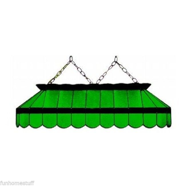 """Stained Glass Billiard Pool Table Light Fixture: BLACK & GREEN 40"""" STAINED GLASS POOL TABLE LIGHT FIXTURE"""