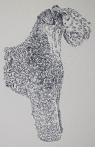 Kerry Blue Terrier Dog Art Portrait Print #34 Kline adds your dogs name ... - $49.95