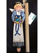 """""""Cynthia Madrid"""" Folk Art Gardening Garden Angel 18"""" Wall Hanging With Tags - $19.99"""