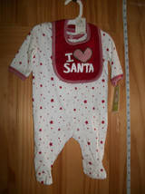 Fashion Holiday Baby Clothes Circo Newborn Christmas I Love Santa Footy Bodysuit - $12.34