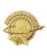 Excellence In Service Passport To The Future Tie Tac Pin 10k Yellow Gold... - $24.99